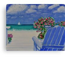 A Seat Beside the Sea Canvas Print