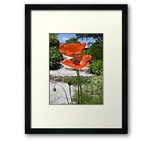 Oriental Poppies in Bright Orange Framed Print