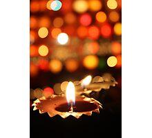 Diwali Lamps Photographic Print