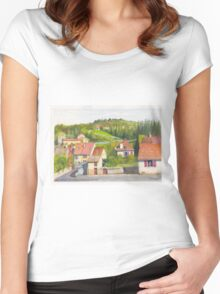 The French village of Billy in the Auvergne Women's Fitted Scoop T-Shirt