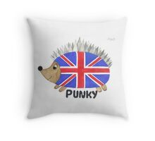 Punky the Hedgehog Union Jack Throw Pillow
