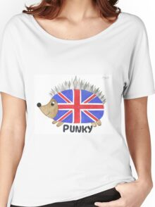 Punky the Hedgehog Union Jack Women's Relaxed Fit T-Shirt