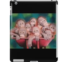 "Pastel and Charcoal Drawing Titled ""Orphans Of Palm Oil"" iPad Case/Skin"