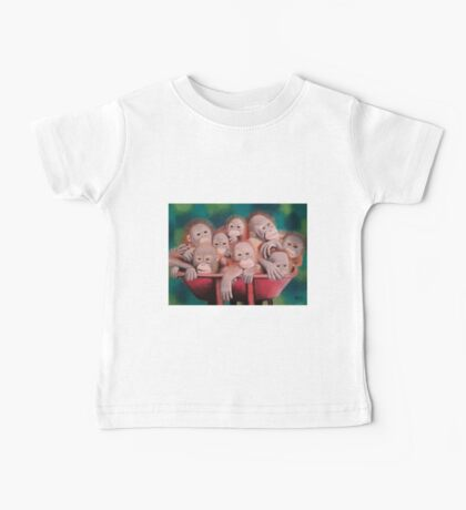 """Pastel and Charcoal Drawing Titled """"Orphans Of Palm Oil"""" Baby Tee"""