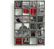 Window on London Sights Canvas Print
