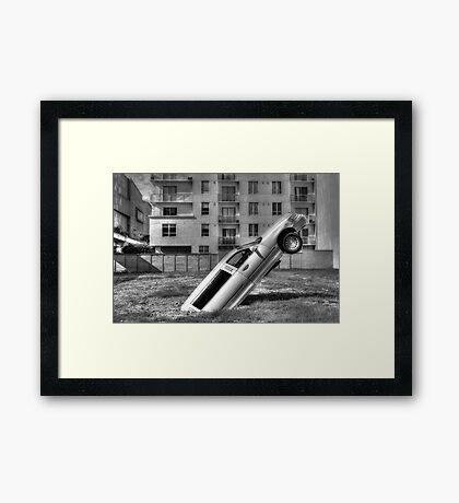 Flying Limo Framed Print