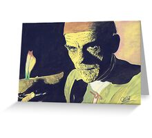 "Boris Karloff "" The Mummy"" Greeting Card"