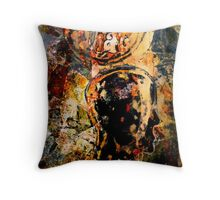 """""""So What"""" -  Collagraph Throw Pillow"""