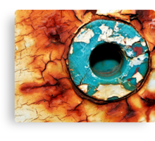 Hole In The Rust Canvas Print
