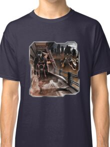 Man walking in a sci-fy city Classic T-Shirt