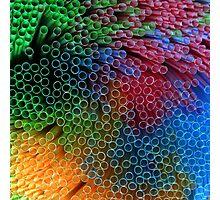 Plastic Rainbow Photographic Print