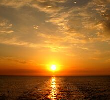 Sunrise by the sea by Vittorio Magaletti