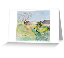rural landscape Greeting Card