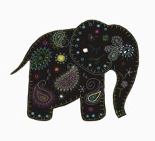 black embroidered elephant by © Karin Taylor