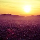 Athens at sunset by alecska