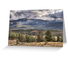 Rocky Mountain Cloudscape Greeting Card