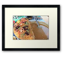 indian street food Framed Print