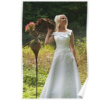Bride outdoor Poster