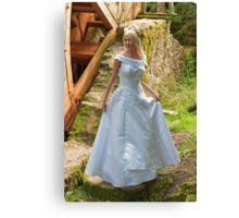 Bride on the mill Canvas Print