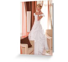 Bride in interior Greeting Card