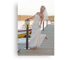 Bride on the lake Canvas Print