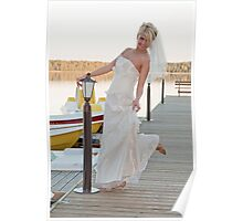Bride on the lake Poster