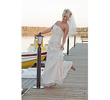 Bride on the lake Photographic Print
