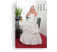 Bride in interior Canvas Print