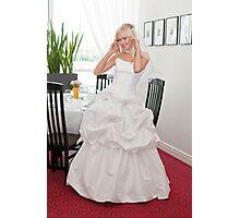 Bride in interior Photographic Print