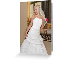 Bride on the mirror Greeting Card