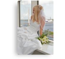 Bride on the window Canvas Print