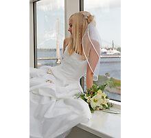 Bride on the window Photographic Print