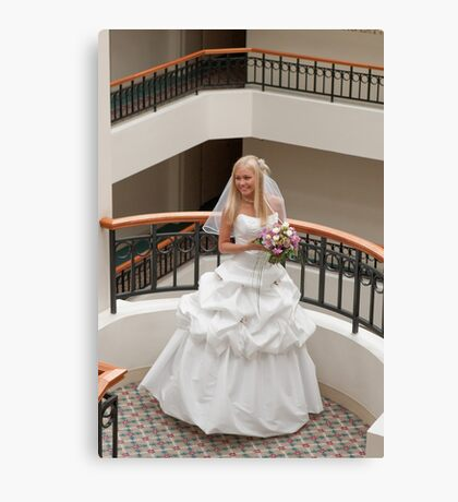 Bride in gallery Canvas Print