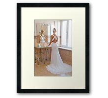 Reflection In Mirror Framed Print