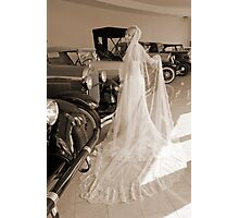 Bride And Antique Cars Photographic Print