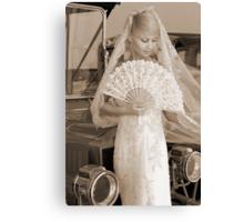 Bride With Fan Canvas Print