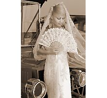 Bride With Fan Photographic Print