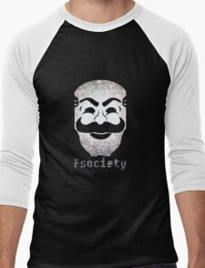 Fsociety Men's Baseball ¾ T-Shirt