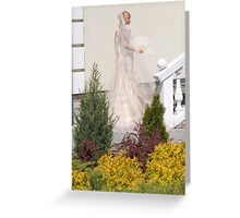 Bride In The Garden Greeting Card