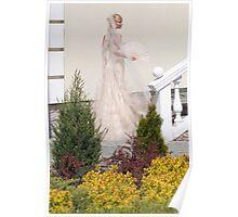 Bride In The Garden Poster