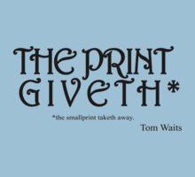 The Print Giveth* (Black) by SolarMechanic