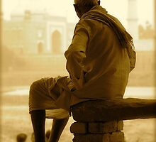 Contemplating the Taj by Valerie Rosen