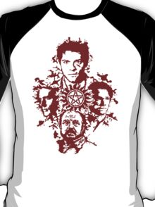 Supernatural Portraits in blood T-Shirt