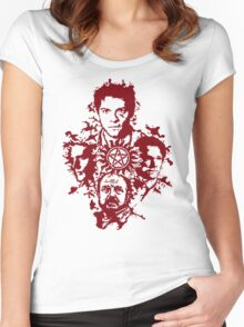 Supernatural Portraits in blood Women's Fitted Scoop T-Shirt