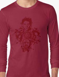 Supernatural Portraits in blood Long Sleeve T-Shirt