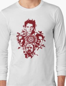 Supernatural Portraits in blood Long Sleeve T-Shirt