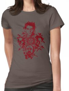 Supernatural Portraits in blood Womens Fitted T-Shirt
