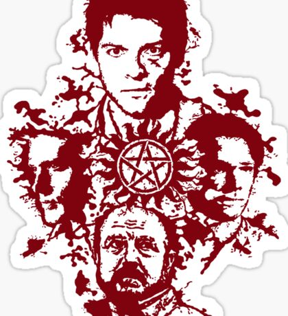 Supernatural Portraits in blood Sticker