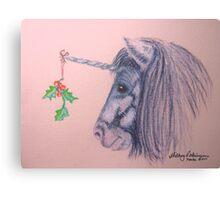A Shetland Unicorn Does Christmas Canvas Print