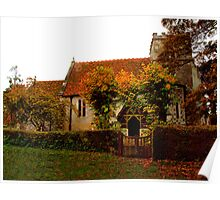 St Mary's Church ~ Odstock Poster